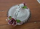 宇治市の出張買取にて「イタリア製 陶器製のコンポート 薔薇細工」をお売りいただきました リサイクルマート松井山手店