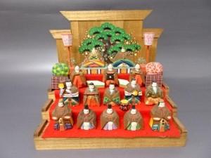 小さな雛人形 木製 ミニチュア レトロ 骨董品