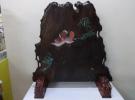 京都府京田辺市にて大型商品の「篁堂銘 木彫彩色鴛鴦 千寿彫刻一枚板衝立 」お買取りさせて頂きました。リサイクルマート松井山手店