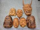 枚方市の出張買取にて「骨董品 木彫り お面 能面 銘なし 壁掛け飾り」をお売りいただきました リサイクルマート松井山手店