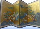 今回は「金箔屏風 四曲一双 泰山院藤原貞信 花見遊客図」を京都府北山で出張買取致しました。 リサイクルマート京都伏見店です。