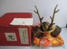大阪府枚方市の出張買取にて「戦国武将 鹿角に半月の前立 山中鹿之助幸盛の兜」をお売りいただきました リサイクルマート松井山手店